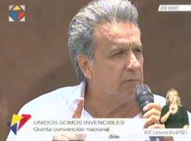 Correa presenta a Lenin Moreno como candidato presidencial de Alianza País