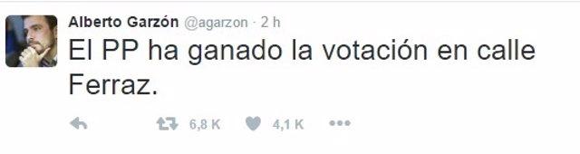 Tweet de Alberto Garzón