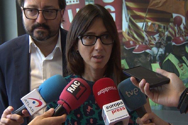 Núria Parlon muestra su apoyo a Pedro Sánchez