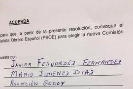 El Comité Federal aprueba una gestora con Javier Fernández al frente y dos personas de confianza de Susana Díaz