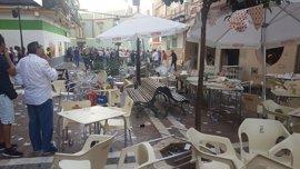 La explosión por gas en el bar de Vélez se salda con 90 atendidos, cinco de ellos graves