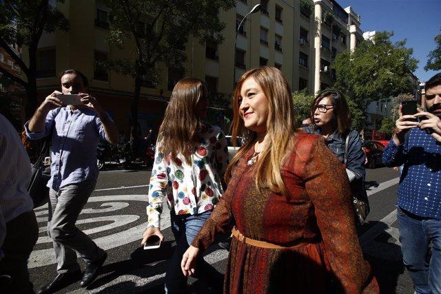 La presidenta del Comité Federal del PSOE, Verónica Pérez