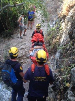 Excursionista rescatada en El Bosque (Cádiz)