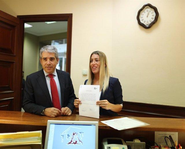 Francesc Homs y Miriam Nogueras