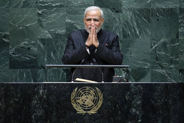 El primer ministro indio, Narendra Modi, ante la Asamblea General de la ONU