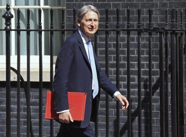 El ministro de Finanzas británico, Philip Hammond