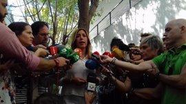 """Susana Díaz pide """"respeto"""" a la gestora y dice que """"ahora no toca"""" hablar de investidura"""
