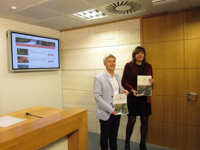 Presentación Serranobús con Rodríguez Osés y García