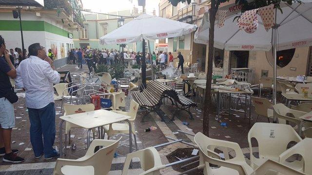Explosión por escape de gas en bar de Vélez