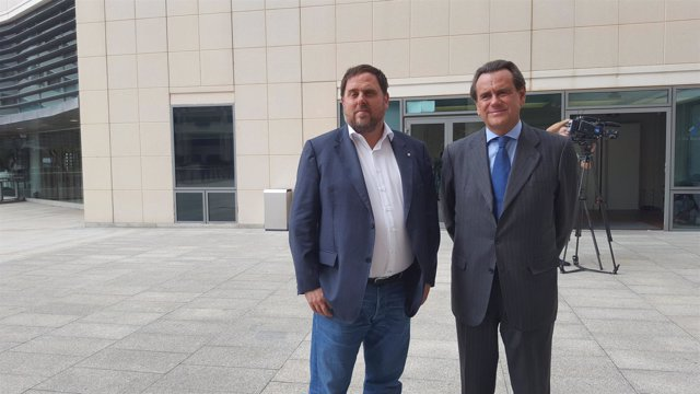 Oriol Junqueras y Sixte Cambra