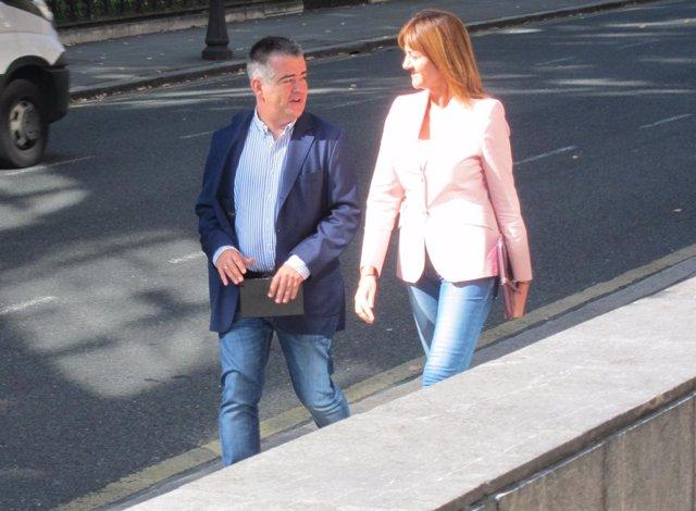 Idoia Mendia y Miguel Ángel Morales
