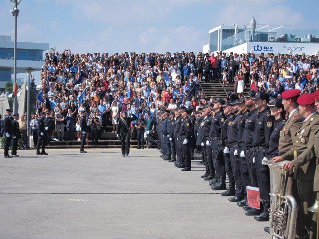 Policías conmemoran su Día en Veles e Vents
