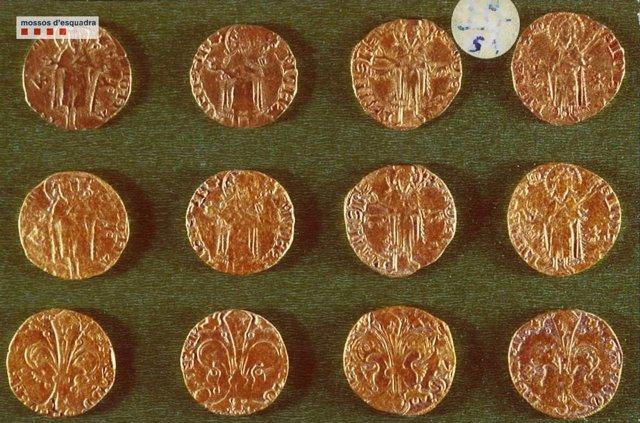 Monedas históricas del monasterio de Santa Maria de Lluçà