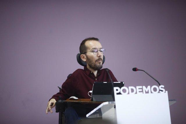 Pablo Echenique en ruda de prensa