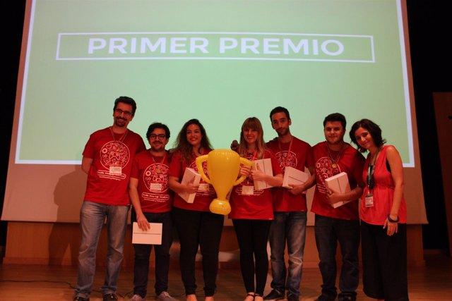 La tienda 'Indiye' como ganadores de Sevilla Startup Weekend