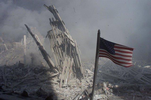 Escombros de las Torres Gemelas tras los atentados del 11-S