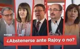 ¿Abstenerse ante Rajoy o no? Esto es lo que han dicho las federaciones del PSOE