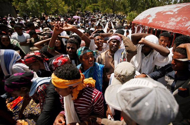 Funeral por una de las víctimas de la estampida humana en Oromia