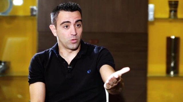 Xavi Hernández en una entrevista con Movistar+