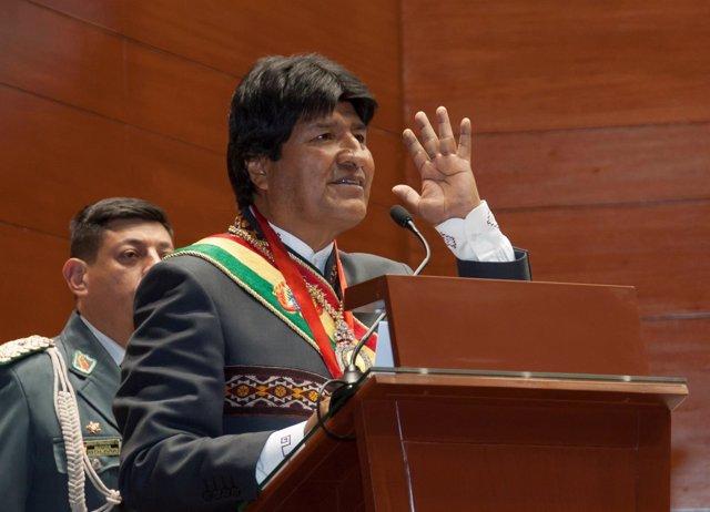 El presidente de Bolicia Evo Morales en una intervención en Sucre