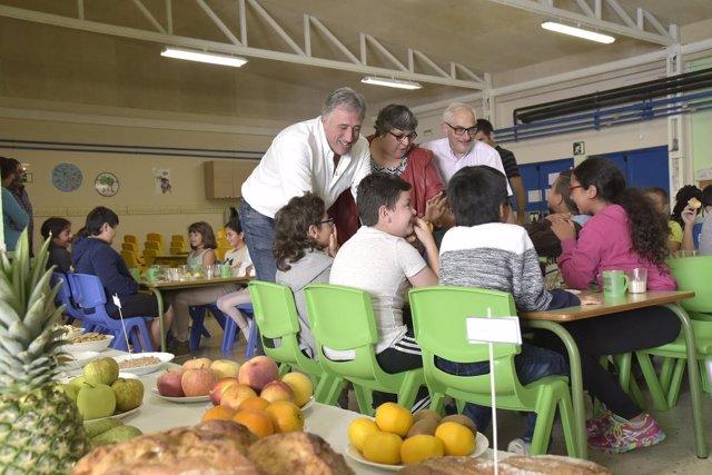 El alcalde de Pamplona en el colegio público San Jorge