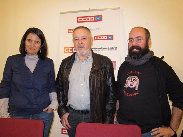Cristina Bermejo, Antonio Pino Y Adrián Redondo (CCOO)