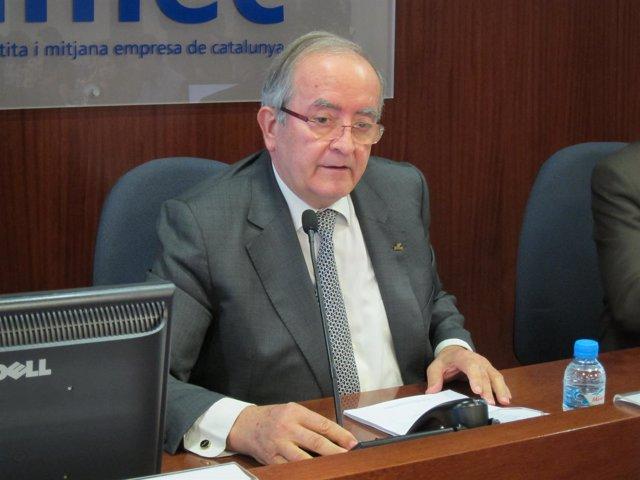 El pte. De Pimec Josep González