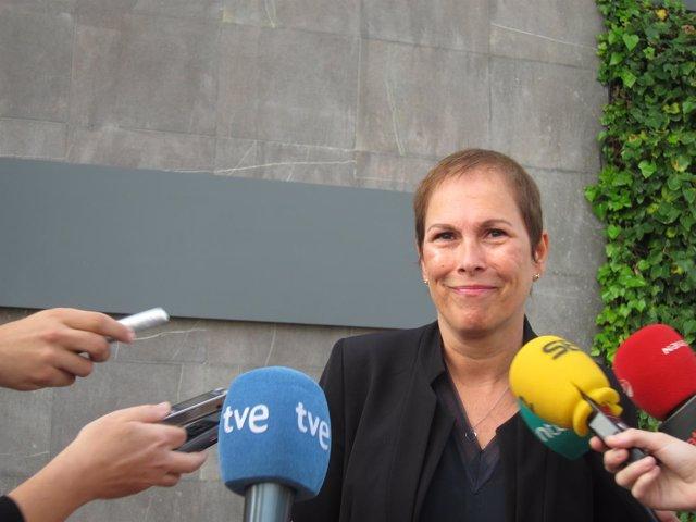 La presidenta del Gobierno de Navarra, Uxue Barkos