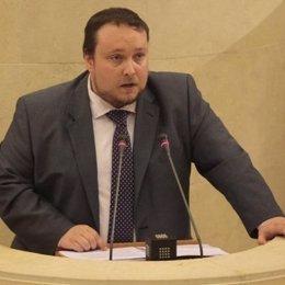 Rubén Gómez, portavoz de Ciudadanos en el Parlamento