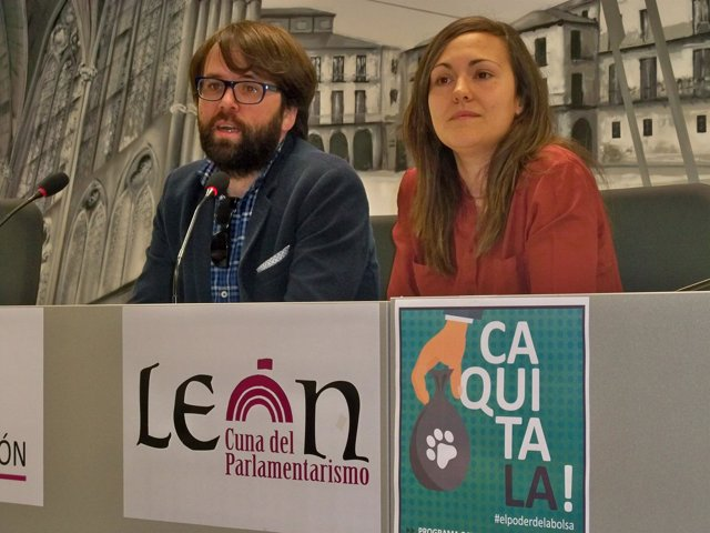 Miguel Ángel Gutiérrez y Marta Mejías, en la presentación de la campaña.