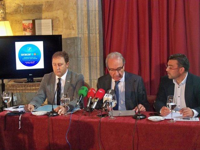 De izda a dcha, Tomás Castro, José Vega y Pedro Llamas.