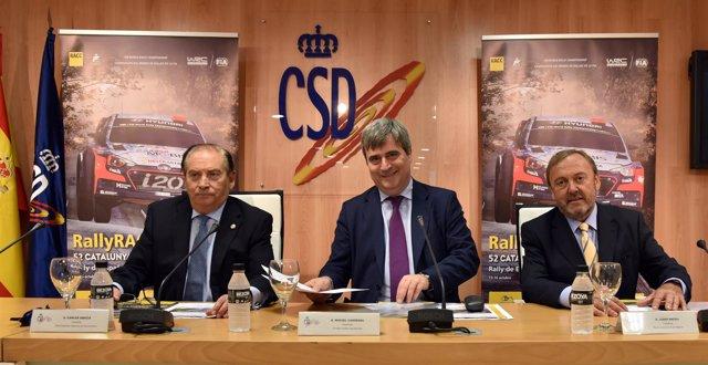 Carlos Gracia, Miguel Cardenal y Josep Mateu en presentación RACC