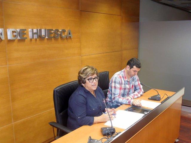 Vicepresidenta de DPH, Elisa Sancho, y responsable de Hacienda, Fernando Sánchez