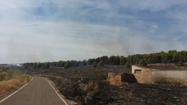Incendio en Azuara