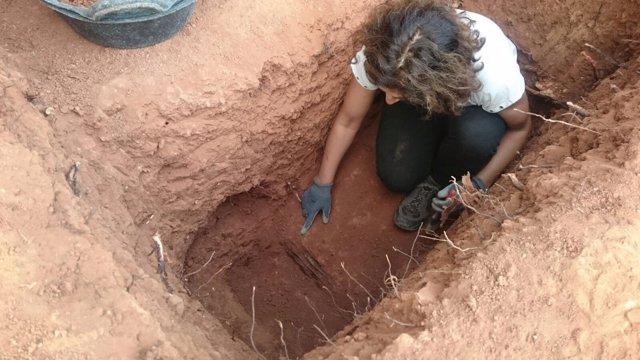Exhumación de una fosa en Tremp