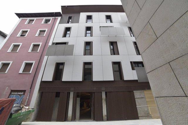 Primer edificio de viviendas del centro histórico de Pamplona con calificación A