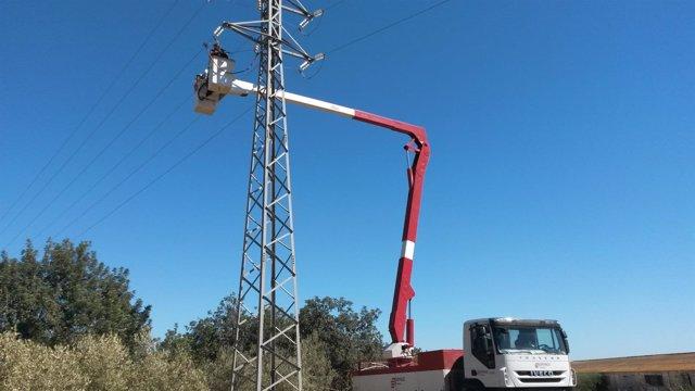 Nueva línea eléctrica en Amposta