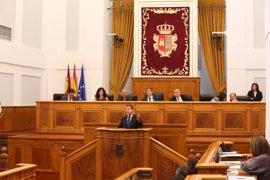 Page inicia su discurso pidiendo apoyo a PP y Podemos para rechazar el trasvase