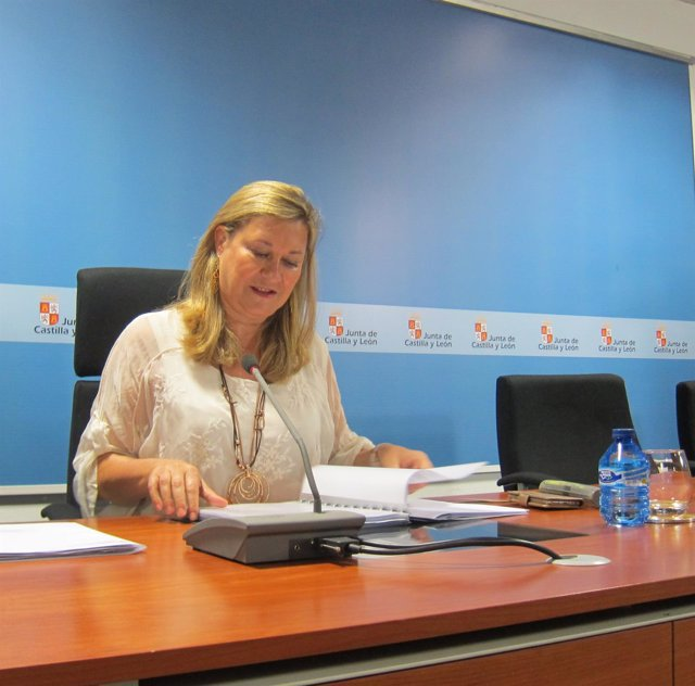 Pilar del Olmo, consejera de Economía y Hacienda de CyL.