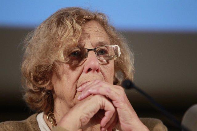 Manuela Carmena en una jornada contra la corrupción