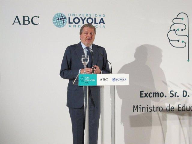 El ministro de Educación, Cultura y Deporte en funciones, Íñigo Méndez de Vigo