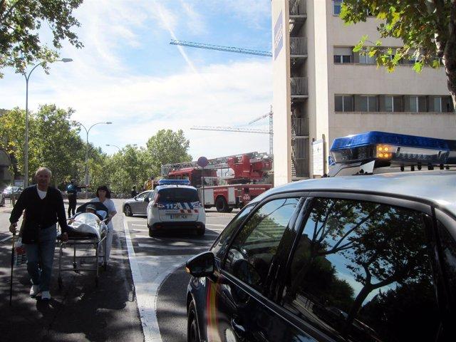 Evacuación del Edificio Maternidad del Hospital de Salamanca