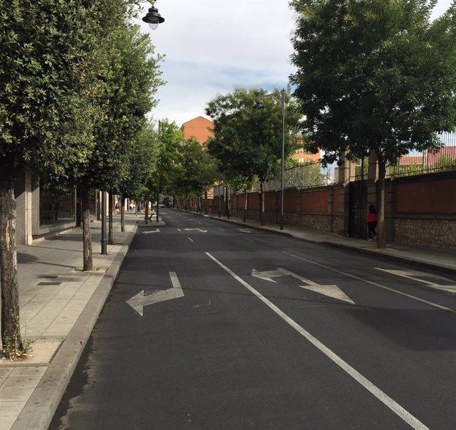 La calle Doctrinos de Valladolid, durante el Día sin Coche