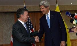 Kerry traslada a Santos el apoyo de EEUU a su llamamiento a la unidad para alcanzar la paz