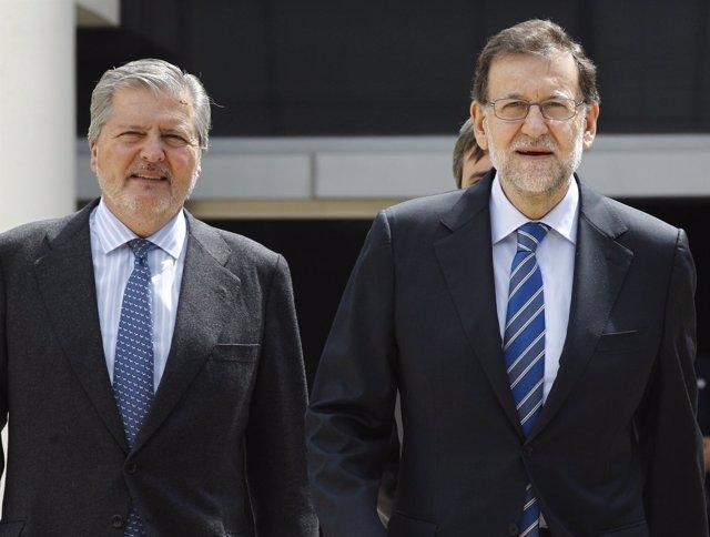 Mariano Rajoy e Iñigo Méndez de Vigo