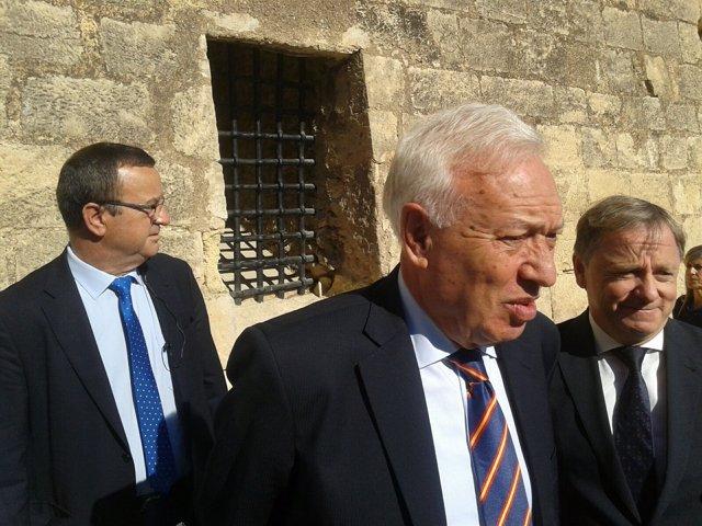 García-Margallo junto a Juan Carlor Moragues en Alicante