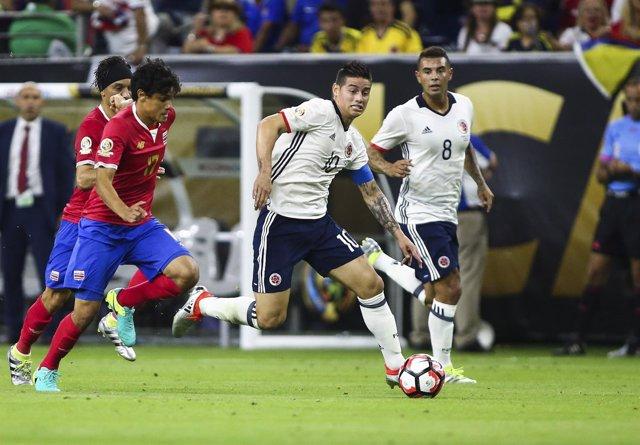 James Rodríguez Colombia Costa Rica Copa América