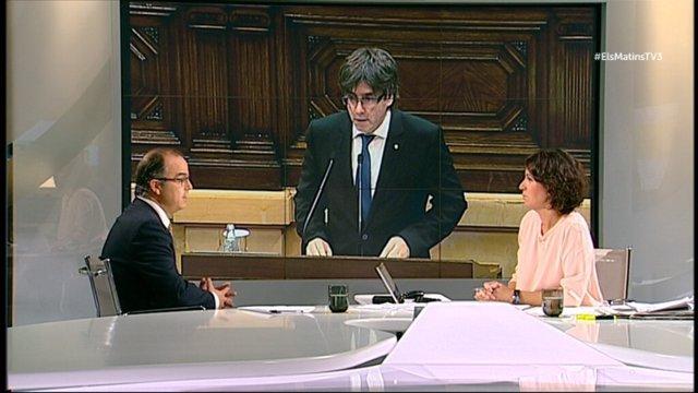 El diputado y presidente de JxSí en el Parlament, Jordi Turull