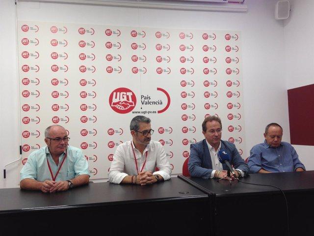 Morales, Argente, Hojas y Sáez, durante la rueda de prensa