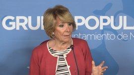 """Aguirre ve """"lamentable"""" que Carmena no acuda a los actos del 12 de Octubre"""